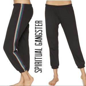Spiritual Gangster Pants & Jumpsuits - SPIRITUAL GANGSTER Perfect Sweatpants Striped M
